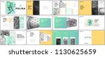 minimal presentations design ... | Shutterstock .eps vector #1130625659