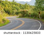beautiful of curved road on the ... | Shutterstock . vector #1130625833