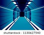 corridors secret building....   Shutterstock .eps vector #1130627540