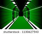 corridors secret building....   Shutterstock .eps vector #1130627543
