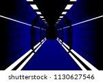corridors secret building....   Shutterstock .eps vector #1130627546