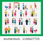 family pictures showing the... | Shutterstock .eps vector #1130627723