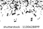 musical notes on white... | Shutterstock .eps vector #1130628899