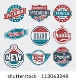 vector vintage retro label and... | Shutterstock .eps vector #113063248