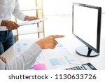 businessman working together...   Shutterstock . vector #1130633726