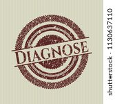 red diagnose distressed rubber... | Shutterstock .eps vector #1130637110