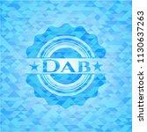 dab light blue mosaic emblem | Shutterstock .eps vector #1130637263