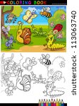 coloring book or page cartoon... | Shutterstock .eps vector #113063740