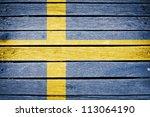Sweden  Swedish Flag Painted O...