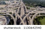 Ariel View of I-10 Freeway intersecting with Beltway 8 in Houston Texas.