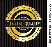 genuine quality gold badge | Shutterstock .eps vector #1130642960