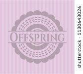 offspring pink emblem. vintage.   Shutterstock .eps vector #1130643026