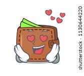 in love wallet mascot cartoon...   Shutterstock .eps vector #1130644220