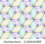 colorful seamless rhombus... | Shutterstock . vector #1130646389