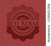 best kebab realistic red emblem | Shutterstock .eps vector #1130651306