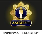 gold badge or emblem with... | Shutterstock .eps vector #1130651339