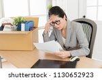 asian woman has no method to... | Shutterstock . vector #1130652923