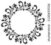 decorative frame elegant vector ... | Shutterstock .eps vector #1130655536