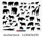 african animals silhouettes set.... | Shutterstock .eps vector #1130656250
