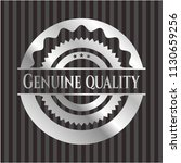 genuine quality silver badge or ... | Shutterstock .eps vector #1130659256