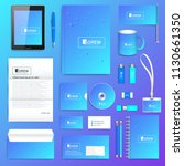 geometric graphic set of vector ... | Shutterstock .eps vector #1130661350