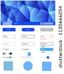 light blue vector design ui kit ...