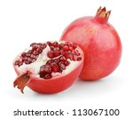 ripe pomegranate fruit with... | Shutterstock . vector #113067100