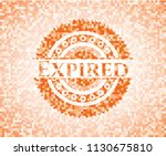 expired abstract orange mosaic... | Shutterstock .eps vector #1130675810