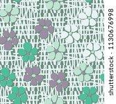 seamless pattern. flowers... | Shutterstock .eps vector #1130676998