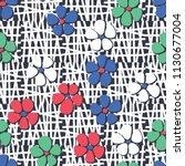 seamless pattern. flowers... | Shutterstock .eps vector #1130677004