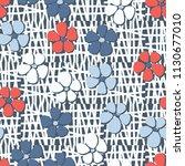 seamless pattern. flowers... | Shutterstock .eps vector #1130677010