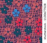 seamless pattern. flowers... | Shutterstock .eps vector #1130677028