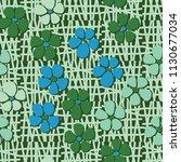 seamless pattern. flowers... | Shutterstock .eps vector #1130677034
