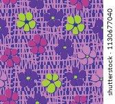seamless pattern. flowers... | Shutterstock .eps vector #1130677040