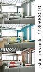 3d illustration of three color... | Shutterstock . vector #1130683010