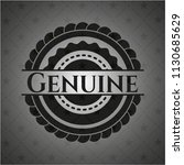 genuine dark badge | Shutterstock .eps vector #1130685629