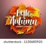 hello autumn vector background... | Shutterstock .eps vector #1130685920