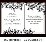 invitation with floral... | Shutterstock .eps vector #1130686679