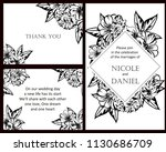 invitation with floral... | Shutterstock .eps vector #1130686709