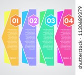 four elements of infographic... | Shutterstock .eps vector #1130689379