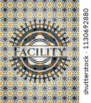facility arabesque emblem...   Shutterstock .eps vector #1130692880