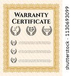 orange warranty. cordial design....   Shutterstock .eps vector #1130693099