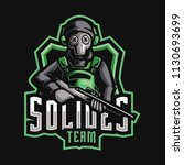 soldier team e sport logo | Shutterstock .eps vector #1130693699