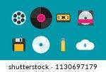 flat vector evolution of... | Shutterstock .eps vector #1130697179