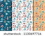 marine nautical travel theme... | Shutterstock .eps vector #1130697716