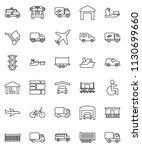 thin line vector icon set  ... | Shutterstock .eps vector #1130699660