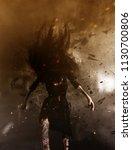 3d illustration of ghost woman... | Shutterstock . vector #1130700806