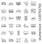 thin line vector icon set  ... | Shutterstock .eps vector #1130701703