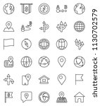 thin line vector icon set  ... | Shutterstock .eps vector #1130702579