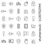 thin line vector icon set  ... | Shutterstock .eps vector #1130702594